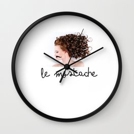 Le mostache on woman Wall Clock
