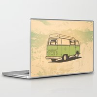 vw bus Laptop & iPad Skins featuring VW Bus by QRS Patterns