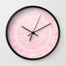 Medallion Pattern in Blush Pink Wall Clock