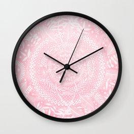 Medallion Pattern in Blush Pink Wall Clock