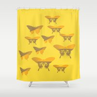 butterflies Shower Curtains featuring Butterflies by Vitta