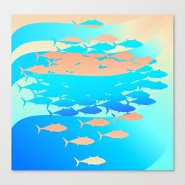Tuna Tide Canvas Print