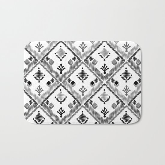 Abstract ethnic ornament. White background 4. Bath Mat