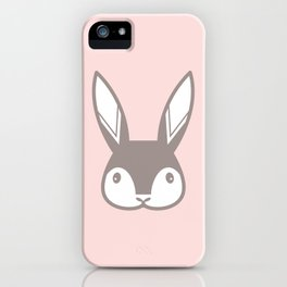 Bunny on Pink iPhone Case