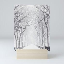 Snowy Park Mini Art Print