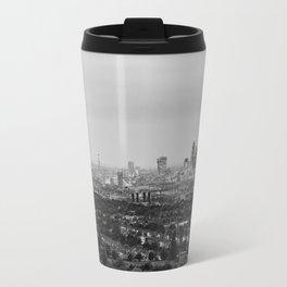 Black and White London Aerial View at Night - United Kingdom Travel Mug