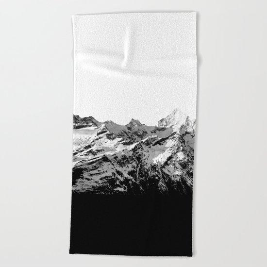 Mountain(black and white) Beach Towel