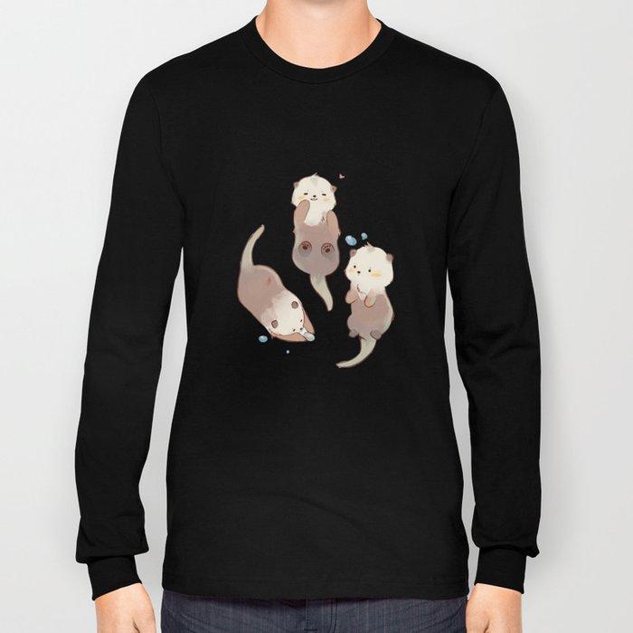 Three Cute Otter Long Sleeve T-shirt