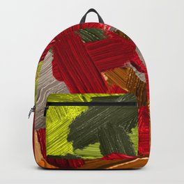 28| Abstract Expressionism| 210210| Digital Abstract Art Textured Oil Painting Backpack