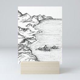 Mountain Shore Landscape Mini Art Print