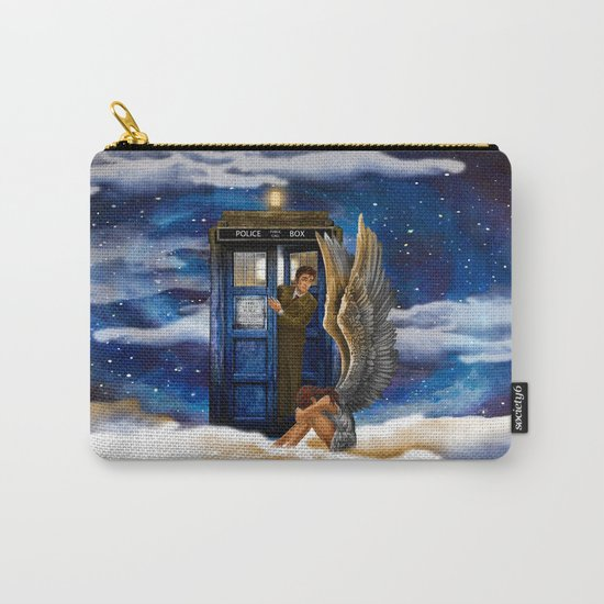 10th Doctor Who with Crying AngeL iPhone 4 4s 5 5s 5c, ipod, ipad, pillow case and tshirt Carry-All Pouch