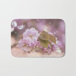 Cherry Blossom LOVE - Sakura - Pink Flower Flowers Bath Mat