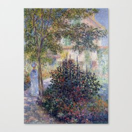 Claude Monet Camille Monet in the Garden at Argenteuil Canvas Print
