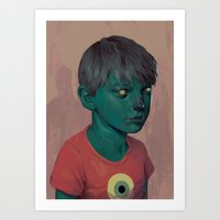 Illuminated Boy Art Print