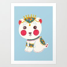 The Ethnic Polar Bear Art Print