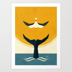 Too big a fish Art Print