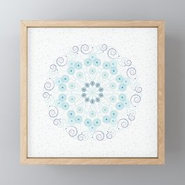 Spring breeze mandala Framed Mini Art Print