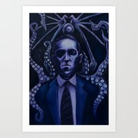 lovecraft Art Prints featuring Lovecraft by Mrtn Ljmn