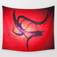 interstellar Wall Tapestries featuring Interstellar 2 by Je Nie Fleming