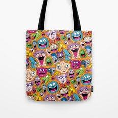 Creepy Smiles Pattern Tote Bag