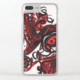 Red Details Clear iPhone Case