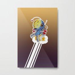 Rocket Bot Metal Print