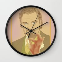 calvin and hobbes Wall Clocks featuring CALVIN CANDIE by Itxaso Beistegui Illustrations