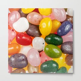 Cool colorful sweet Easter Jelly Beans Candy Metal Print