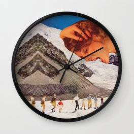 Intense mountain of love  Wall Clock