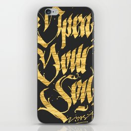 Open your soul iPhone Skin