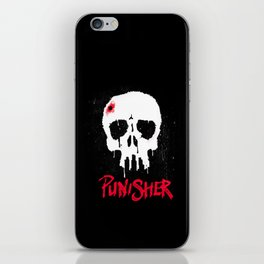 Skull and City iPhone Skin