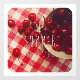 summer stories Art Print