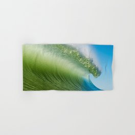 BlueGreen Wave Hand & Bath Towel