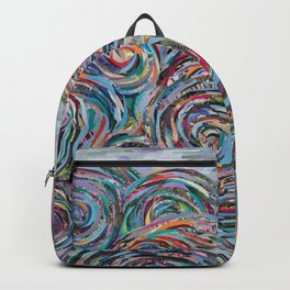 Ocean Swirls Collage Backpack