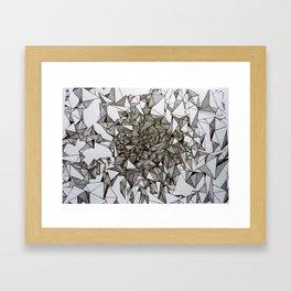 triangular foldings Framed Art Print