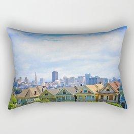 Painted Ladies of Alamo Square Rectangular Pillow