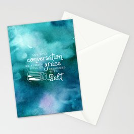 Let Your Conversation Be Always Full of Grace, Seasoned With Salt Stationery Cards