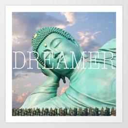 Dreaming Buddha Art Print