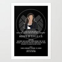 agents of shield Art Prints featuring Agents of S.H.I.E.L.D. - Skye by MacGuffin Designs