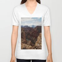 marble V-neck T-shirts featuring Marble Canyon by Kevin Russ