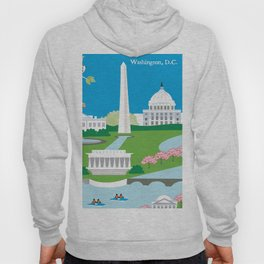 Washington, D.C. - Skyline Illustration by Loose Petals Hoody