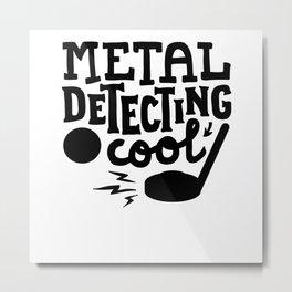 Metal Detectorist Metal Print