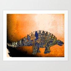 Mr.Steg O. Saurus Art Print