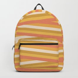 stripey sunny square Backpack