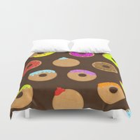 donuts Duvet Covers featuring Donuts by Reg Silva / Wedgienet.net