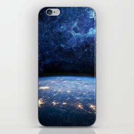 Earth and Galaxy iPhone Skin