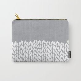 Half Knit Grey Carry-All Pouch