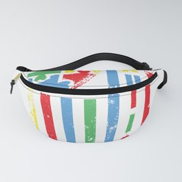 Autism Awareness Heart American Flag Colors Fanny Pack