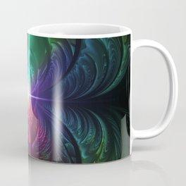 Anodized Rainbow Eyes and Metallic Fractal Flares Coffee Mug