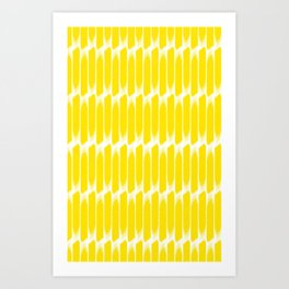 Brush yellow Art Print
